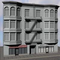 3 storey apartment building 3ds