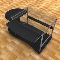 3d model pc desk table