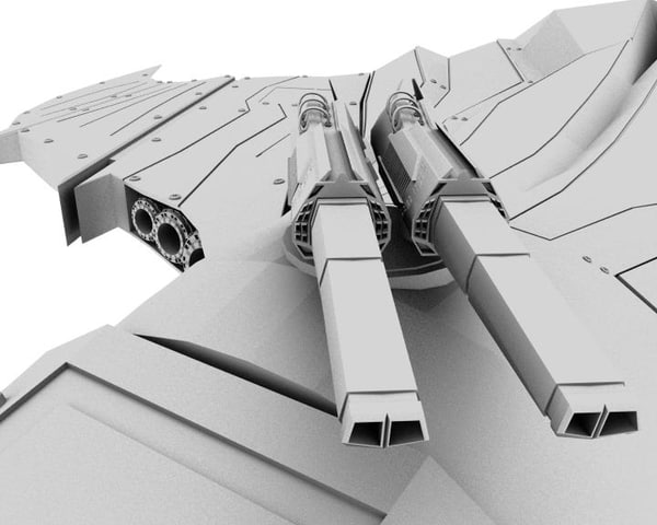 stingray space fighter aldo 3d model - The Stingray_by Aldo... by chang_design