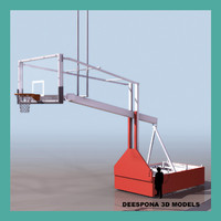 3ds max glass backboard professional basketball hoop