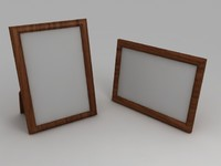 3d model wooden photo frames portrait