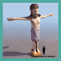 3d model romanesque christ figure sculpture