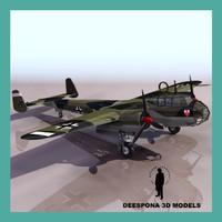 3d dornier 17 german bomber