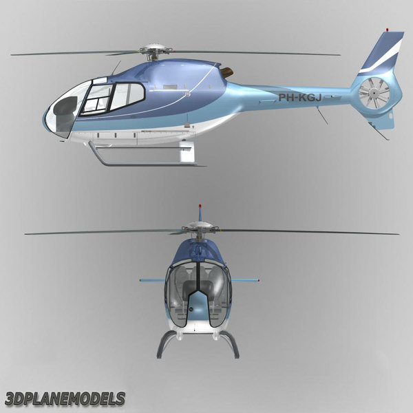 eurocopter ec-120b heliflight ec 3d model - Eurocopter EC-120B HeliFlight... by 3Dplanemodels