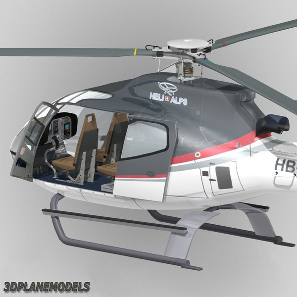 eurocopter ec-130 heli alps 3d 3ds - Eurocopter EC-130B Heli Alps SA... by 3Dplanemodels