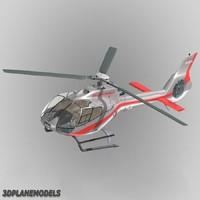 3d model eurocopter ec-130 heli air