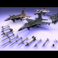 3ds max f-16 fighting falcon jet fighter
