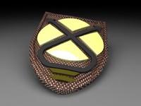 roman shield 3d max