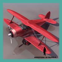 3d beechcraft g17 staggerwing 1932