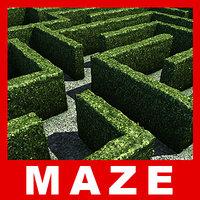 obj maze hedges
