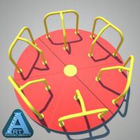3d model merry-go-round