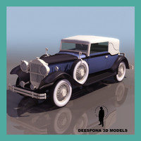 3d model packard car seventh series