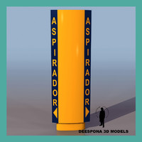 3d model european petrol station vacuum