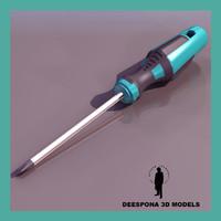 3dsmax phillips screwdriver ultradetailed