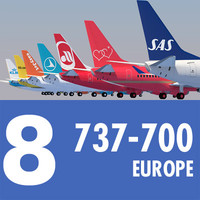 737 Collection. Eight European Airlines