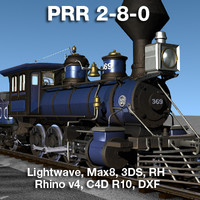 prr 2-8-0 locomotives steam 3ds