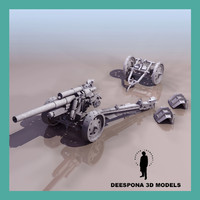 3d german field artillery 15 model
