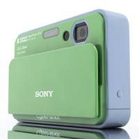 3ds max sony cybershot t2 camera