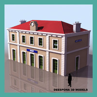 3d saint julien french train station model