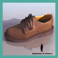 street shoe man 3d max