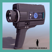 3dsmax super 8 mm movie camera
