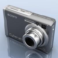 sony cybershot dsc w80 3d model