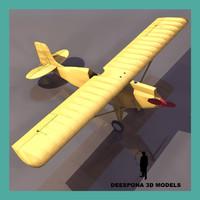 3d max corven light airplane