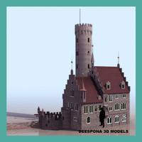 liechenstein medieval castle 3d max