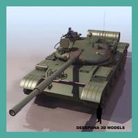 3dsmax t-62 soviet russian tank
