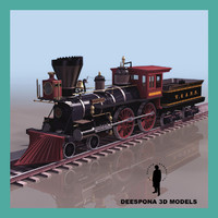 3d general train engine steam model