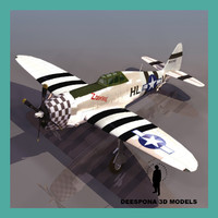3d p-47 thunderbolt usaf wwii