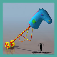 3d horse toy handle model