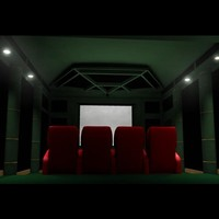 3d home theater room model