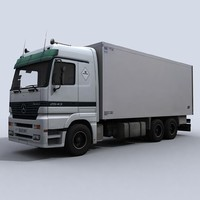 medium transport truck 3d max