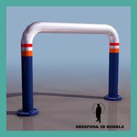 3d parking fence model