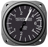 Vertical Air Speed Aircraft Instrument
