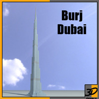 3d burj dubai skyscraper building model