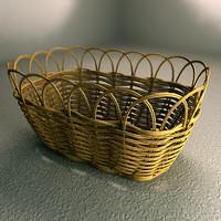 3d model basket