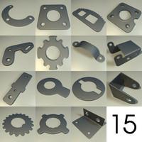 3d model 15 components