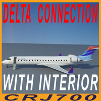 delta connection interior 3d model