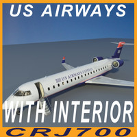CRJ 700 US AIRWAYS with interior