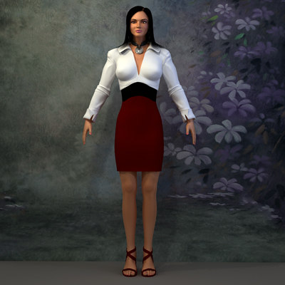 3D Human Model: Realistic Young Female for 3ds Max, Cinema