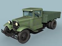 maya gaz-aa cargo truck wwii