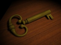 antique key 3d model