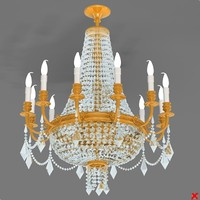 chandelier light dxf