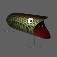topwater fishing plug 3d model