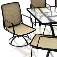 3d pool patio furniture swivel model
