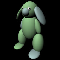 free rabbit - 3d model