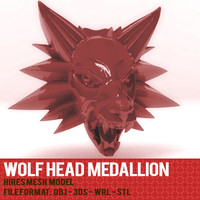 WOLFHEAD MEDALLION