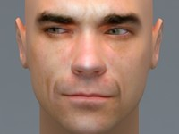 3d robbie williams face model